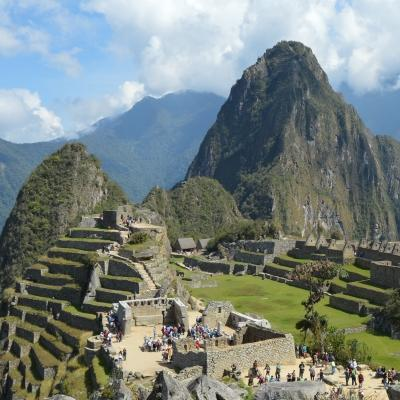 A volunteer in South America takes a photo of Machu Picchu while on a weekend break from his project in Peru.
